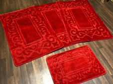 ROMANY WASHABLES TRAVELLER MATS SET NON SLIP SUPER THICK RED NEW DESIGNS